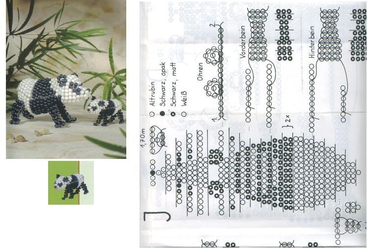 Бисер плетение схема панды