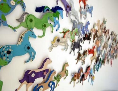 Декоративная лошадка из картона Украшения своими руками